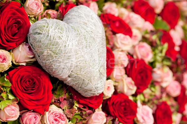 Фото с сердцем и цветами