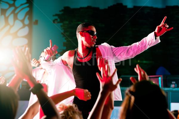 Rap hiphop zenészek előad színpad klub Stock fotó © Kzenon