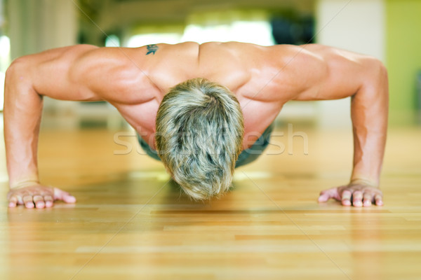 Workout - pushups Stock photo © Kzenon