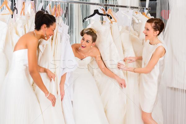女性 ブライダル ドレス ショップ ストックフォト © Kzenon