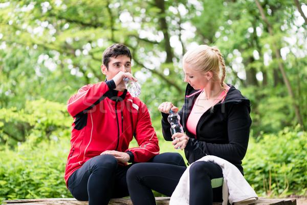 Para jogging sportu szczęśliwy fitness lata Zdjęcia stock © Kzenon