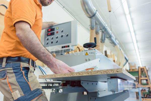 плотник мебель завода кнопки машина Сток-фото © Kzenon