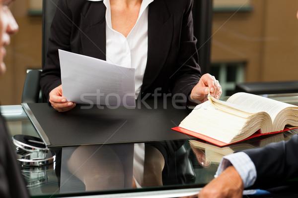 Weiblichen Rechtsanwalt Notar Büro reifen Client Stock foto © Kzenon