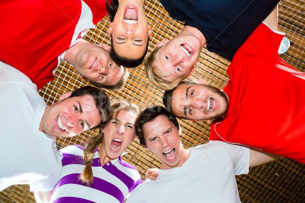 Sport Team with good spirit winning the game Stock photo © Kzenon