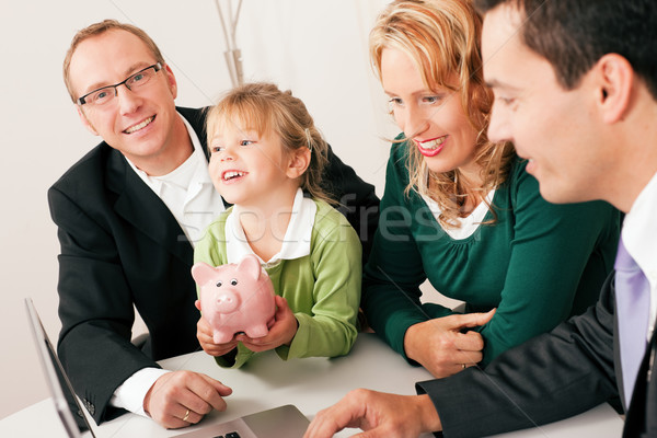 Stock photo: Family with consultant - finance and insurance