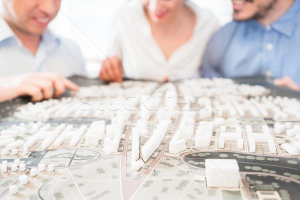 Model miejskich rozwoju cywilny inżynierowie biuro Zdjęcia stock © Kzenon