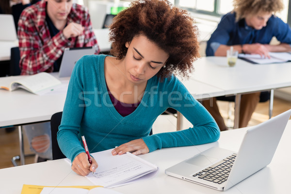 Portrait of an African American millennial student smiling with  Stock photo © Kzenon