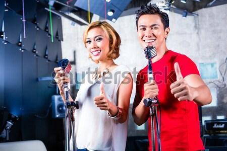 Asia cantante canción profesional músico Foto stock © Kzenon