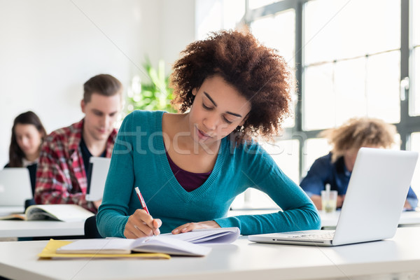 Portrait of an African American millennial student smiling Stock photo © Kzenon