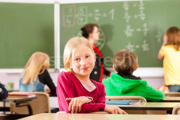 Oktatás tanár iskola tanít fiatal női Stock fotó © Kzenon