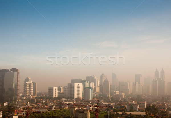 smog dome over a big city Stock photo © Kzenon