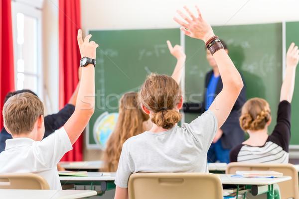 Tanár oktat tanít osztály iskolás iskola Stock fotó © Kzenon