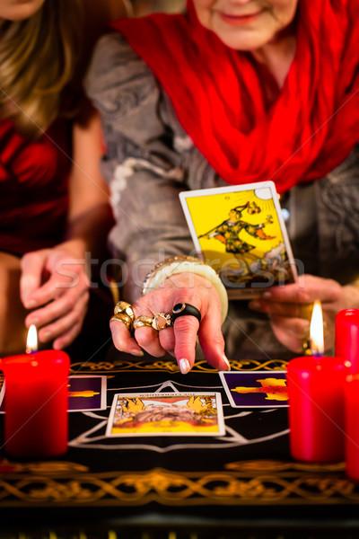 Таро карт клиент свечей книга Сток-фото © Kzenon