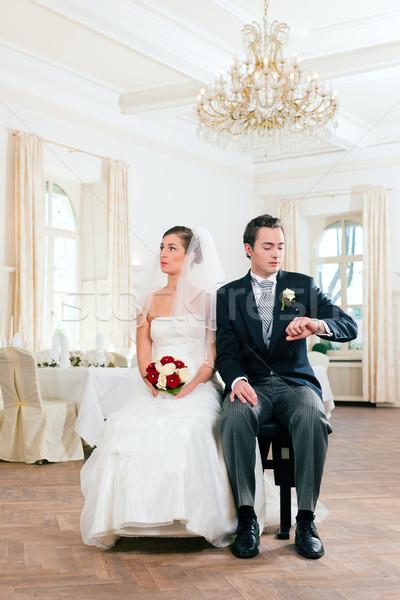 Bridal couple waiting for ceremony Stock photo © Kzenon