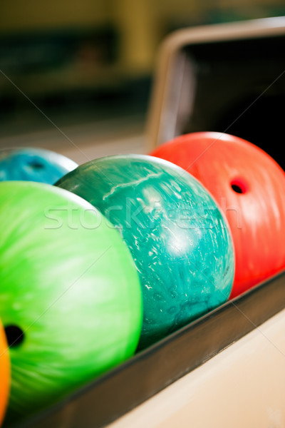 Boliche boliche pronto diversão Foto stock © Kzenon