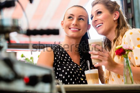 Young woman sharing secrets with her best friend Stock photo © Kzenon