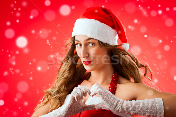 Santa Claus woman being seductive Stock photo © Kzenon