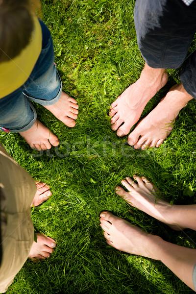 Healthy feet - standing together Stock photo © Kzenon