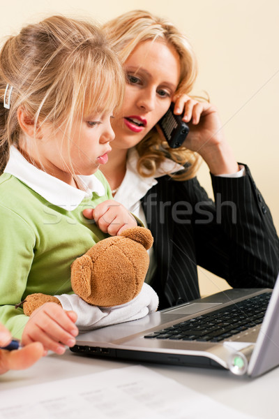 Busineswoman and mother cannot take it all Stock photo © Kzenon