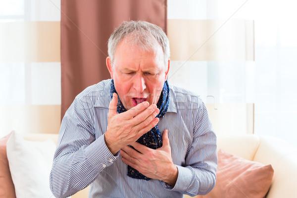 シニア インフルエンザ 歳の男性 乳がん ストックフォト © Kzenon