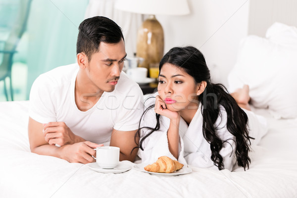 Marital issues - man feeling rejected by wife Stock photo © Kzenon