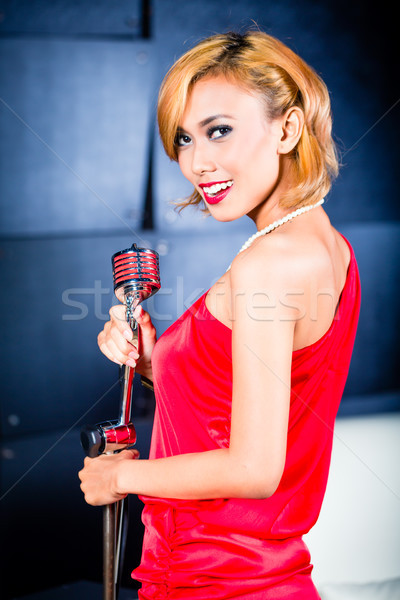 Photo stock: Asian · chanteur · chanson · professionnels · musicien