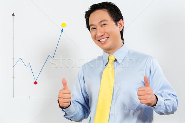 中国語 ビジネス マネージャ 利益 予測 ストックフォト © Kzenon