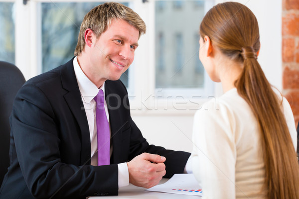 Stock photo: Lawyer and client in office