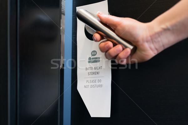 please do not disturb sign on a room door in hotel Stock photo © Kzenon