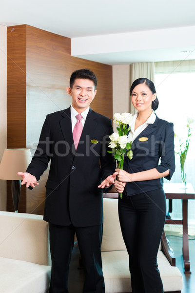 Foto stock: Asiático · chinês · hotel · gerente · vip · diretor