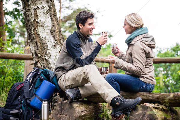 пеший турист пару походов тропе кофе Сток-фото © Kzenon