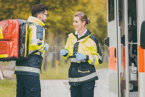 фельдшер медсестры чрезвычайных врач скорой Сток-фото © Kzenon
