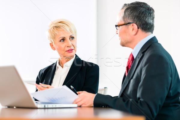 Negocios reunión gente de la oficina de trabajo documento oficina Foto stock © Kzenon