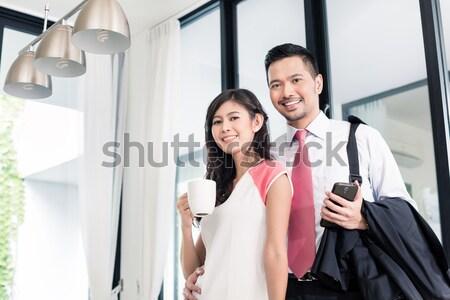 Couple buying domestic kitchen furniture store Stock photo © Kzenon