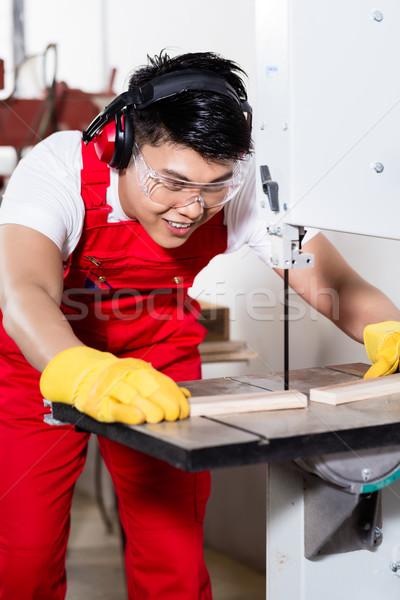 Chinois travailleur vu industrielle usine Photo stock © Kzenon