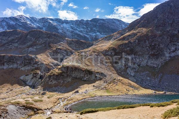 Widoku siedem jezioro region góry chmury Zdjęcia stock © Kzenon