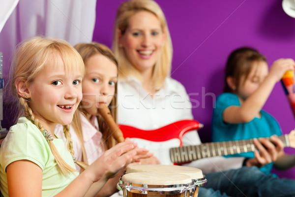 Family making music Stock photo © Kzenon