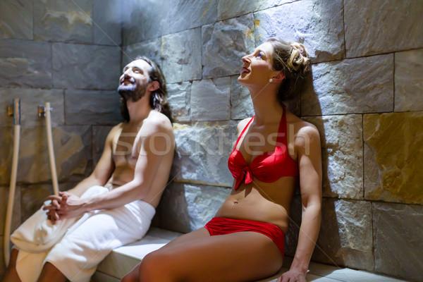пару оздоровительный Spa пар ванны человека Сток-фото © Kzenon