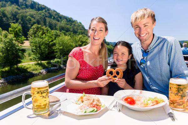 家族 ランチ 川 クルーズ ビール 眼鏡 ストックフォト © Kzenon