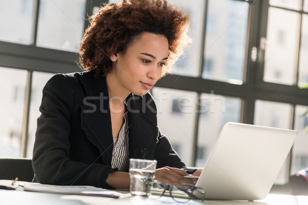 Expert analyzing business report in the office Stock photo © Kzenon