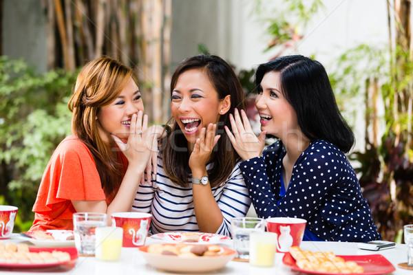 Asian women gossiping about things Stock photo © Kzenon