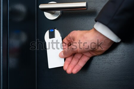 electronic keycard for room door in modern hotel Stock photo © Kzenon