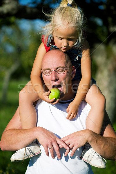 Feeding Daddy Stock photo © Kzenon