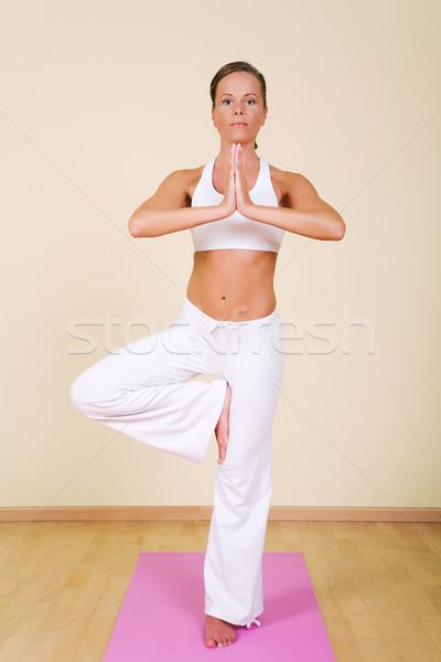 Yoga - Vrikshasana Stock photo © Kzenon