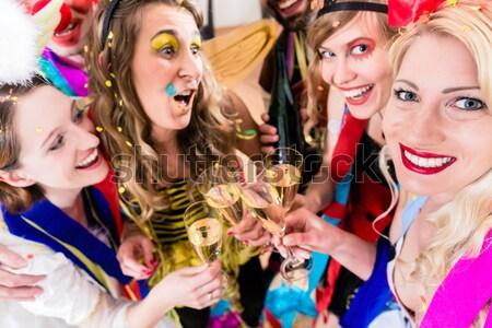 Friends having  birthday celebration Stock photo © Kzenon