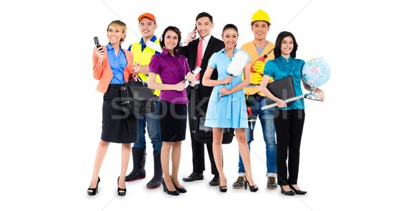 Groupe asian hommes femmes professions Photo stock © Kzenon