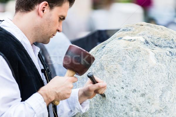Sculpteur travail homme design art hommes Photo stock © Kzenon