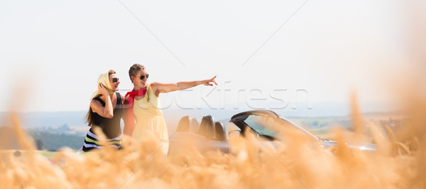 женщины автомобилей зерна области пейзаж Сток-фото © Kzenon