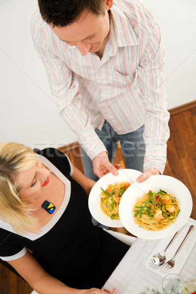 Tonen gerechten romantische diner wat Stockfoto © Kzenon