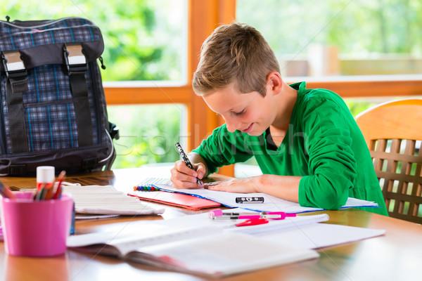 Student praca domowa szkoły domu dziecko Zdjęcia stock © Kzenon